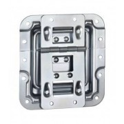 Adam Hall Hardware 270755 - Lid Stay cranked with Hinge Click-Stop Function and Rivet Protection