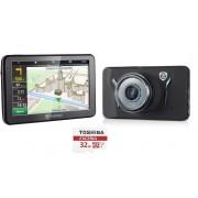 GPS Prestigio GeoVision 5058 + Auto pardakaamera PRESTIGIO RoadRunner 525 + 32GB Micro SD mälukaart