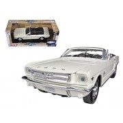 1964 1/2 Ford Mustang Convertible Cream No.1 50th Anniversary 1/24 Car Model by Motormax
