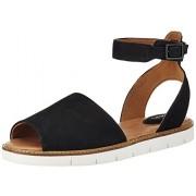Clarks Women's Lydie Hala Nubuck Black Leather Fashion Sandals - 3.5 UK/India (36 EU)
