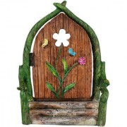 Wonderlnad Miniature fairy garden Flower fairy door(8 x 5 x 11 cm)