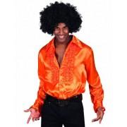 Camisa naranja estilo disco para adulto XL