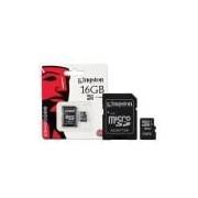 Cartao De Memoria Classe 4 Kingston Sdc4/16gb Micro Sdhc 16gb Com Adaptador Sd Classe 4