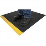 Arbeitsplatzbodenbelag, schwarz Ausführung geschlossen Höhe 17 mm