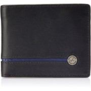 Fastrack Men Black, Blue Genuine Leather Wallet(6 Card Slots)
