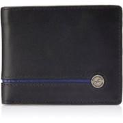 Fastrack Men Black, Blue Genuine Leather Wallet(6 Card Slots)