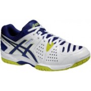 Asics Gel-Dedicate 4 Men Tennis Shoes For Men(White, Blue, Yellow)
