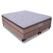 Conjunto Box Colchão Probel Molas Pocket Segredo + Cama Box Nobuck Café - Conjunto Box Queen Size - 158 x 198