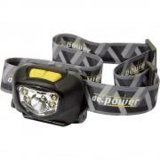 LED naglavna svjetiljka de.power DP-801 na baterije 95 g crno-siva DP-801AA