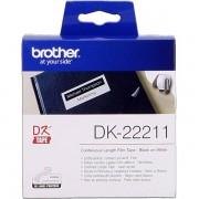 Brother DK-22211 Etiquetas Cinta continua, 29 mm x 15,24 m blanco