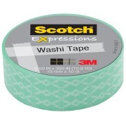 Scotch Expressions washi tape, 15 mm x 10 m, blue weave