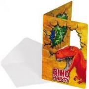Uitnodigingskaartjes Dinosaurus