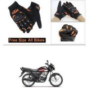AutoStark Gloves KTM Bike Riding Gloves Orange and Black Riding Gloves Free Size For Honda CD 110 Dream