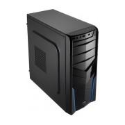 Gabinete Aerocool V2X Azul Edition, Midi-Tower, ATX/micro-ATX/mini-ATX, USB 2.0, sin Fuente, Negro/Azul