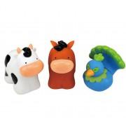 Set forme Popbo - Animale de la ferma - paun, vaca si cal