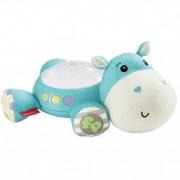 Lampa de veghe Hippo pentru copii cu proiector si muzica albastru