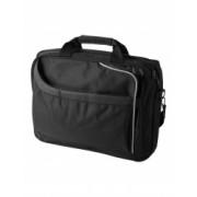 Geanta Laptop Everestus AM 15.4 inch 600D poliester si pvc negru saculet de calatorie si eticheta bagaj incluse