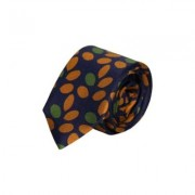 40 Colori - Branch Printed Silk Tie - Royal Blue-Yellow-Mustard - Purple/Pink/White