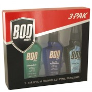 Parfums De Coeur Bod Man Fresh Guy + Really Ripped Abs + Dark Ice Body Sprays Gift Set Men's Fragrances 538802