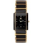 IIK HRV Collection Gold Black Square Best Designing Stylist Professional Analog Watch For Men Boys