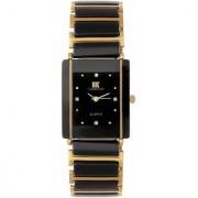 Katrodiya Square Dail Black And Gold Stainless Steel StrapMens Quartz Watch For Men