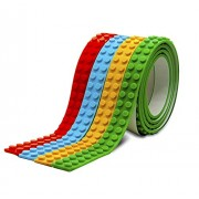 Ekana Mart Lego Tape - Multicolor Pack Of Reusable Self Adhesive Block Tape Rolls For All Ages (4 Feet/Roll)