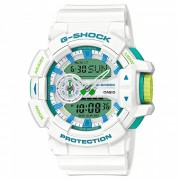 reloj deportivo casio g-shock GA-400WG-7A-blanco + azul + verde