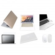 Case Carcasa + Protector De Teclado / Puertos / Pantalla / Trackpad / Magic Mouse Cover Para Macbook Retina 15'' Model (A1398) -Oro