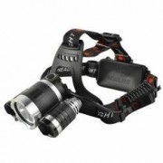 Lanterna frontala 3 LED-uri 5W 3800 lm unghi reglabil incarcator 12V