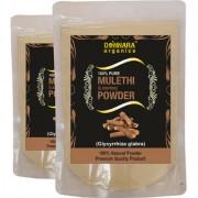 Donnara Organics 100% Natural Mulethi(Licorice) Powder Combo pack of 2 of 150 gms(300 gms)