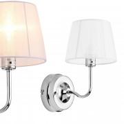 [lux.pro]® Lámpara de pared - diseño moderno blanca - aplique de pared - metal, tela - diámetro pantalla 11,5 cm (arriba) - 15 cm (abajo) - para mesilla de noche