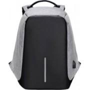 WDS 15.6 inch Expandable Laptop Backpack (Multicolor) 22 L Laptop Backpack(Grey, Black)