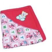 Garg Alphabetical Character Teddy Hooded Design Red Baby Blanket