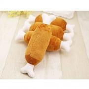 AST Works 1Pc Pet Puppy Cat Dog Chew Squeaker Squeaky Plush Sound Chicken Leg Bone Toys hs