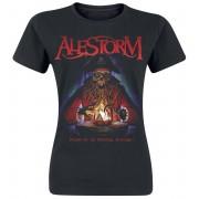 Alestorm Curse Of The Crystal Damen-T-Shirt - Offizielles Merchandise S, M, L, XL, XXL Damen