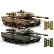 POCO DIVO 2-Set Infrared Battling Tanks M1A2 Abrams RC US Battle Tank 2.4G Radio Control Military Vehicle Pair