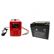 Zestaw zasilania awaryjnego Sinus-850PRO 850W + AKU 40Ah 12V VRLA AGM