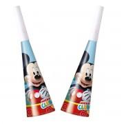 Trompetele Mickey Mouse set de 6 trompete din carton imprimat