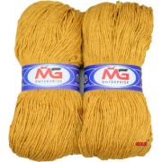 M.G MicroShine Mustard 400 gm hand knitting Soft Acrylic yarn wool thread for Art & craft Crochet and needle