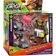 """Teenage Mutant Ninja Turtles Out Of The Shadows Ninja Duel Kraang Vs Michelangelo 5"""" Action Figure 2 Pack"""