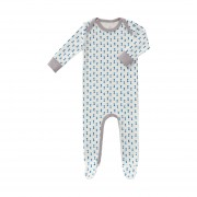 Fresk Fest Pyjama Met Voet Kobalt 0 - 3 Mnd