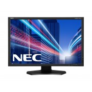 NEC MultiSync PA242W-SV2 black PA242W 24' LCD monitor with GB-R LED backlight, IPS panel, AdobeRGB, resolution 1920x1200, VGA, DVI, DisplayPort, 150 mm height adjustable, SpectraView II Software inclu