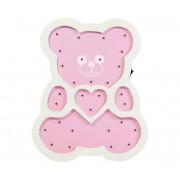 LED Lampă copii LED/2xAA ursuleț roz