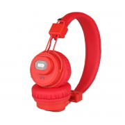 NIA-X5SP Foldable Bluetooth Headset + Speaker Support Micro SD Card Play / FM Radio / APP Control - Red