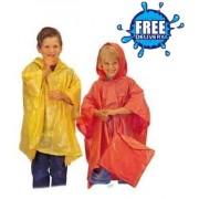 Child Plain Re-Usable PVC Ponchos