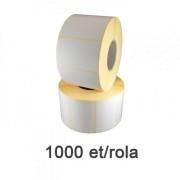 Félfényes etikett címke, 58x38mm, 1000 címke/tekercs