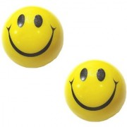 only4you Yellow Smiley Face Ball - Set of 2