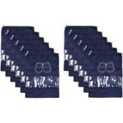 Kuber Industries Shoe Printed Parachute Waterproof 12 Pieces Shoe Cover/Shoe beg (Blue)-CTKTC13406 CTKTC013406(Blue)