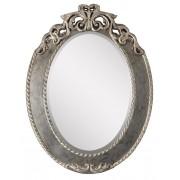 Miroir ovale en bois