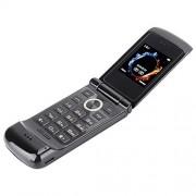"Pomya Flip Phone Unlocked, Mini 1.54""Pantalla Metal Flip Teclado Teléfono móvil Tarjeta SIM Dual Teléfono Celular Fácil de Usar Teléfono Celular para Adultos Mayores, EE. UU. 100-240V"